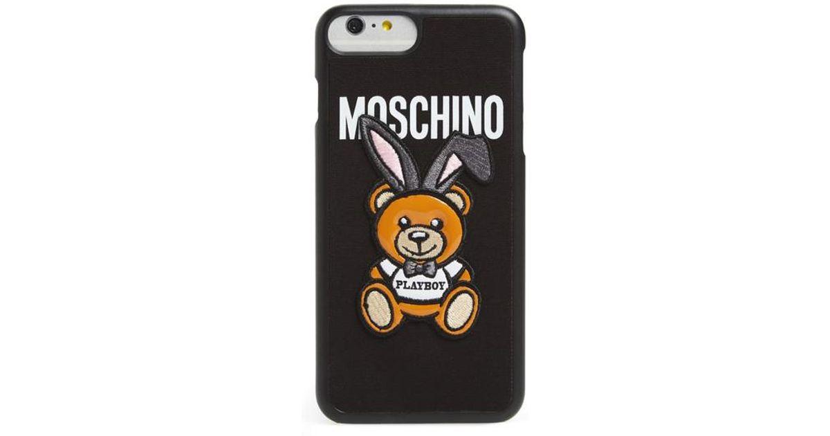 reputable site 2e0ce 14234 Moschino Black X Playboy Bunny Bear Iphone 7 Plus Case