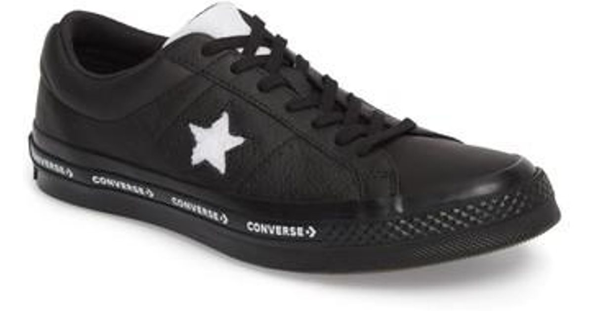 f2039eae3d44c1 Lyst - Converse Chuck Taylor One Star Pinstripe Sneaker in Black for Men