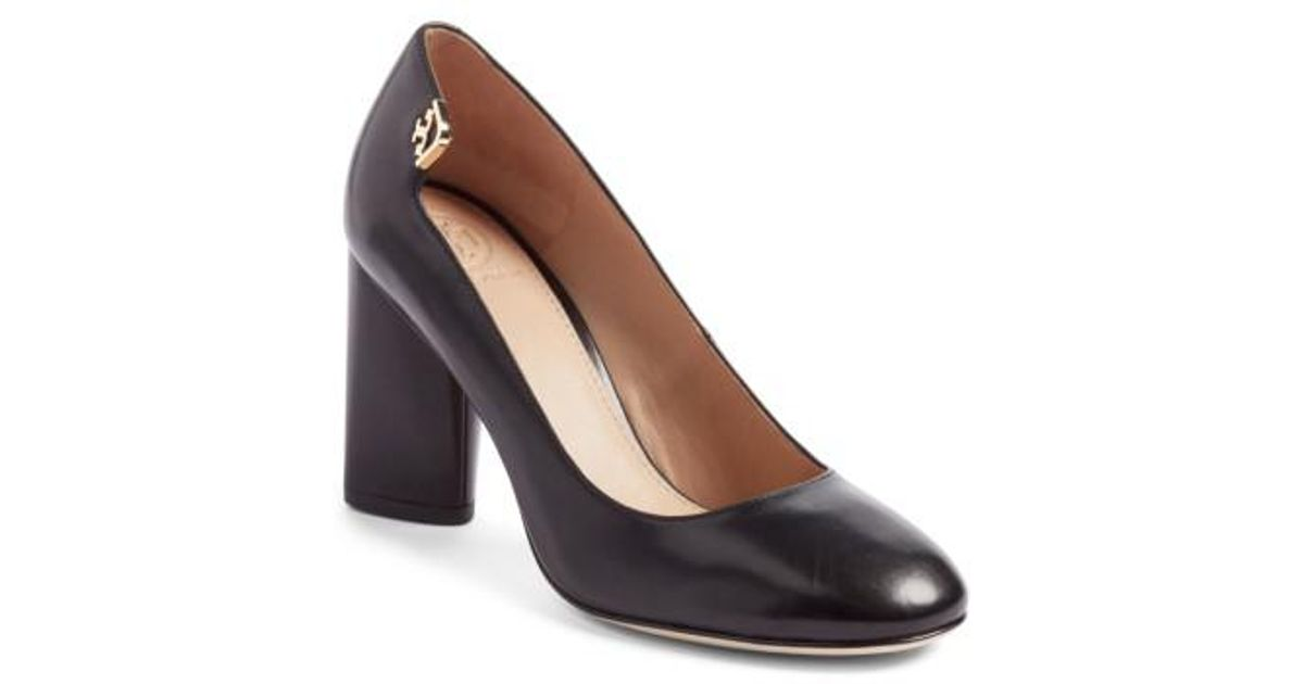 buy cheap get to buy Tory Burch Embossed Leather Rounded-Toe Pumps low shipping fee for sale buy cheap tumblr cheap for cheap 3bbca3j