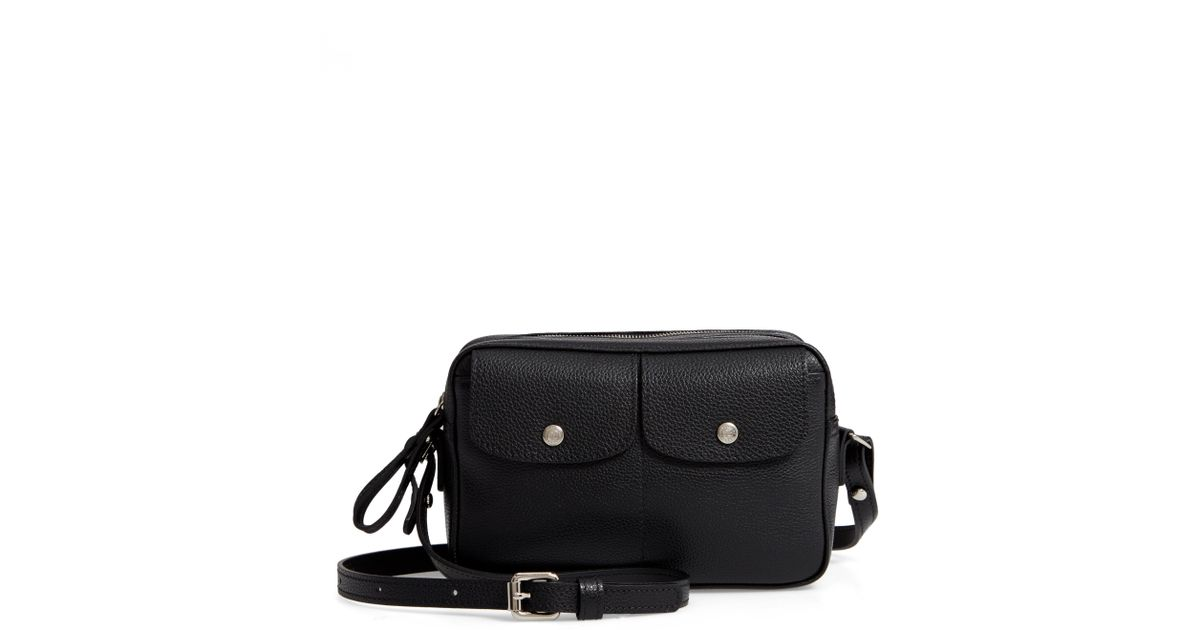 Longchamp Le Foulonné Crossbody Bag Leather Black