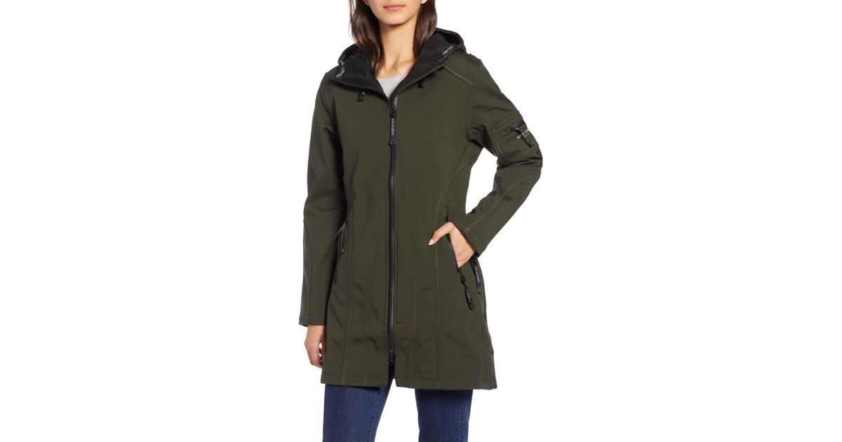 34410831e Lyst - Ilse Jacobsen Rain 7 Hooded Water Resistant Coat in Green