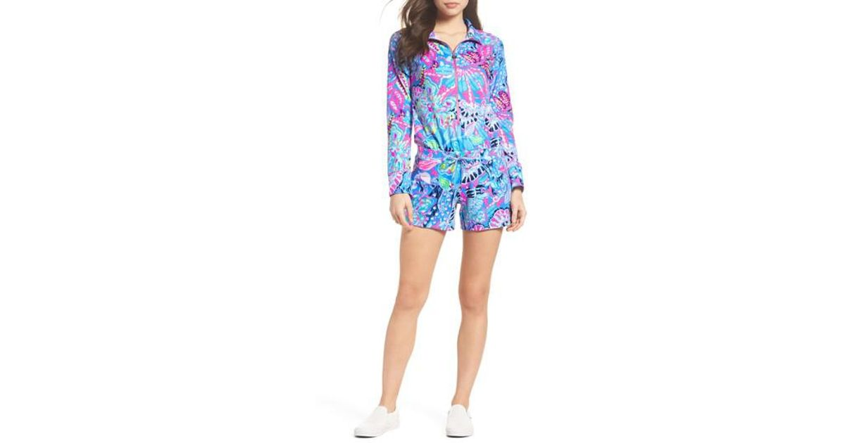 83c9f14c2bd Lyst - Lilly Pulitzer Lilly Pulitzer Skipper Romper in Blue