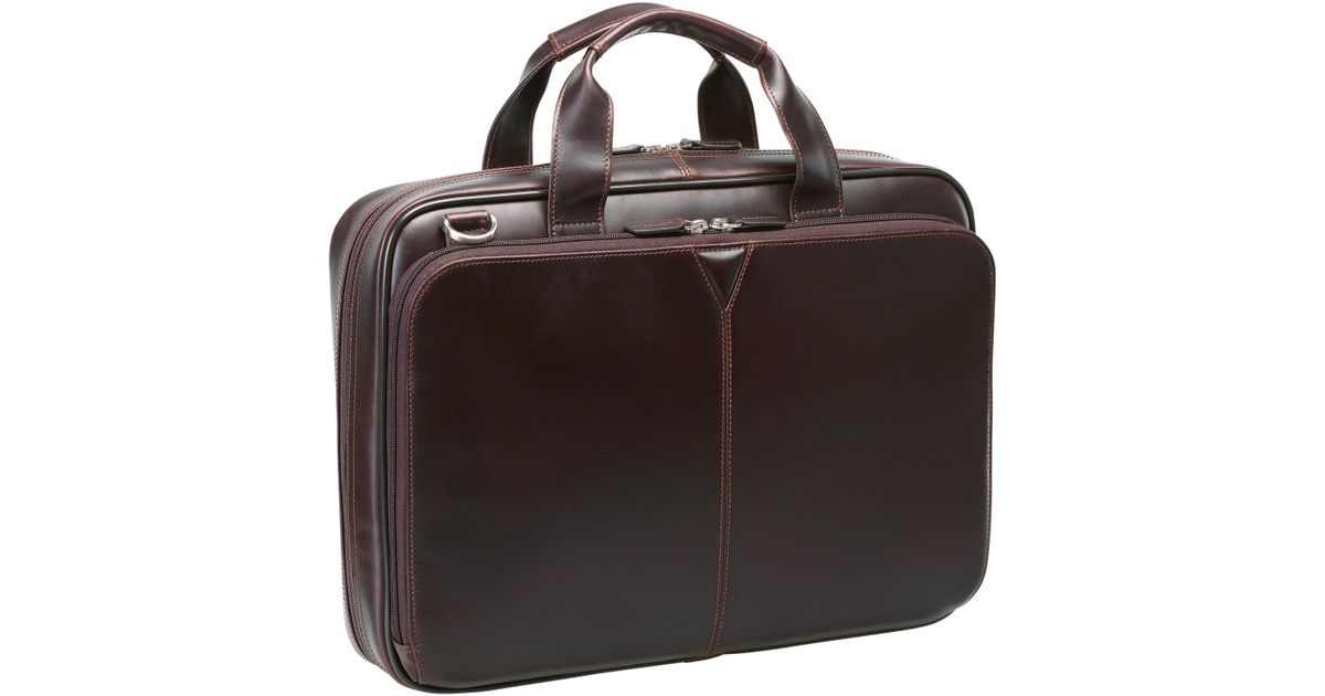 Lyst - Johnston   Murphy Leather Briefcase - in Black for Men ccabd8b9cee88
