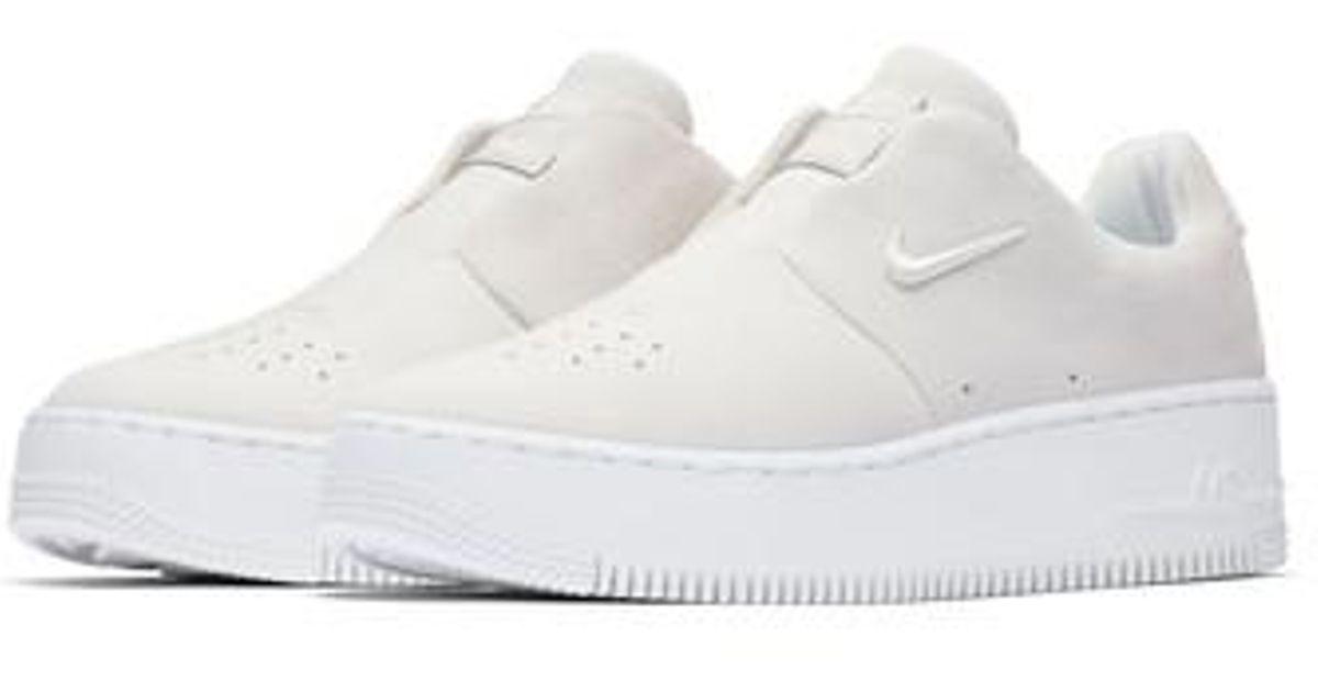 Nike White Air Force 1 Sage Xx Sneaker