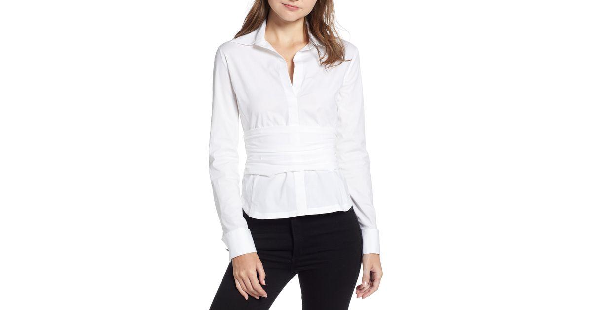 Bailey 44 Womens Stud Poker Stretch Shirt Blouse