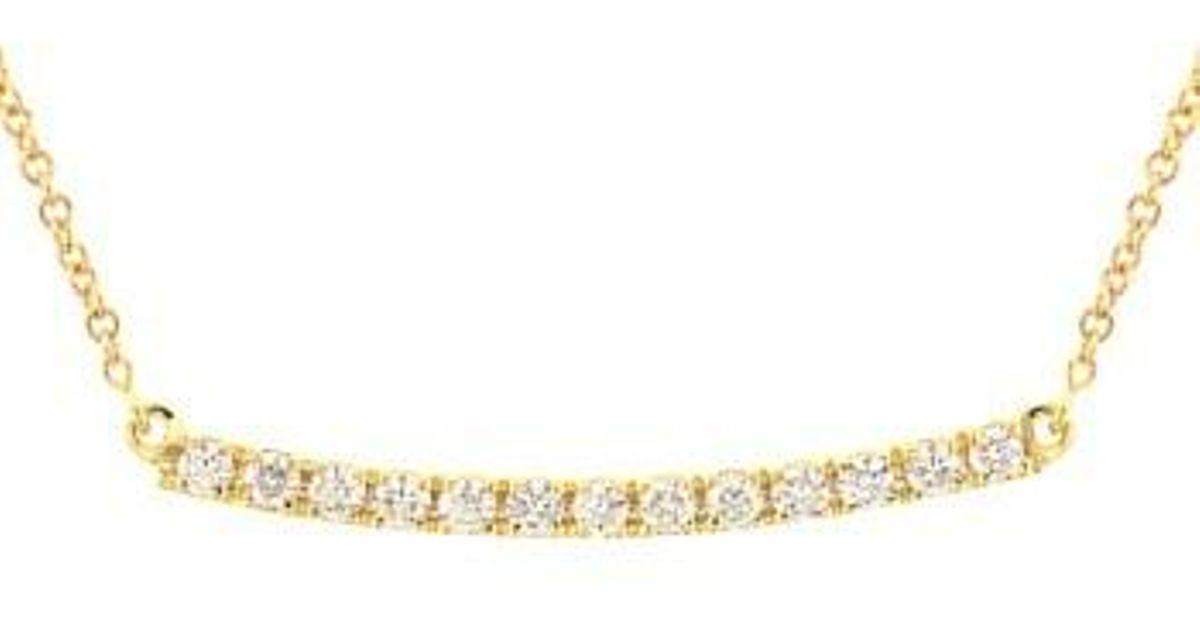 Diamond Bar Necklace Nordstrom