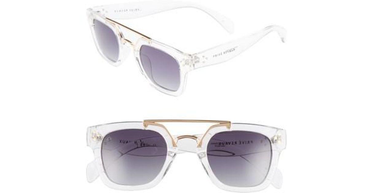 467c1c5c80 Lyst - Privé Revaux The Foxx 49mm Aviator Sunglasses - Clear in Brown