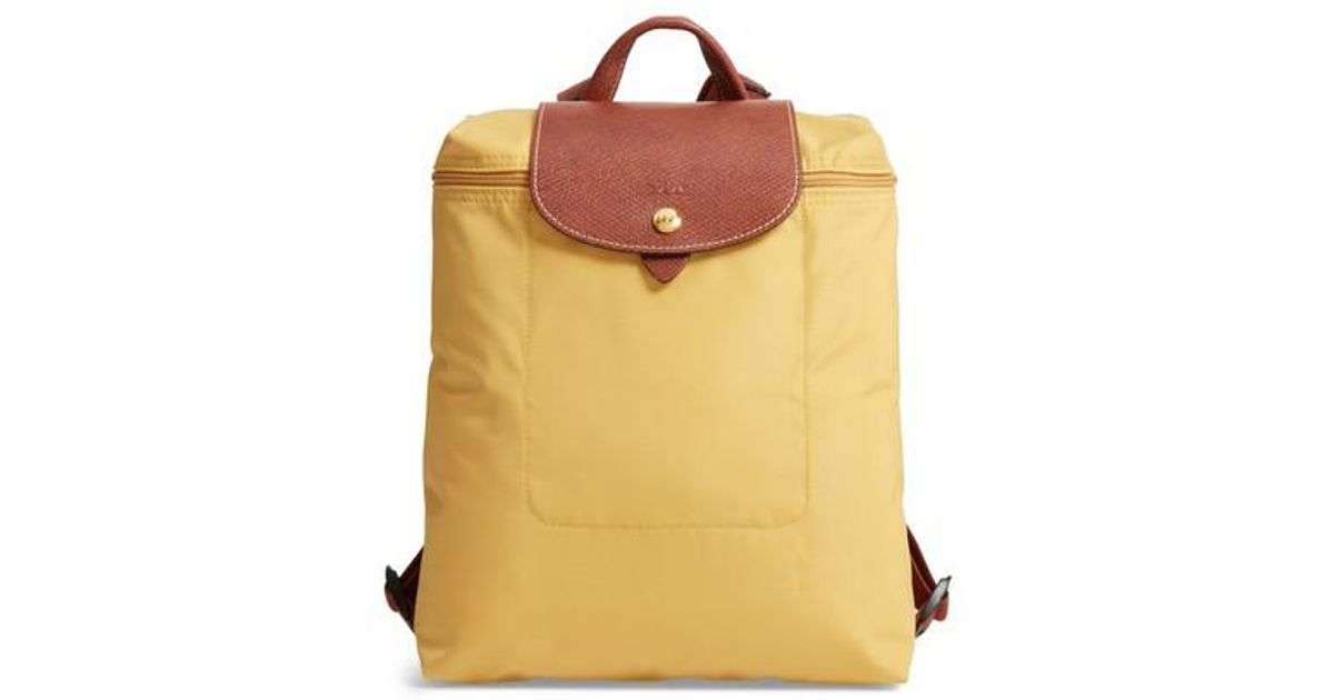 ab5781f2e85a Lyst - Longchamp  le Pliage  Backpack in Yellow