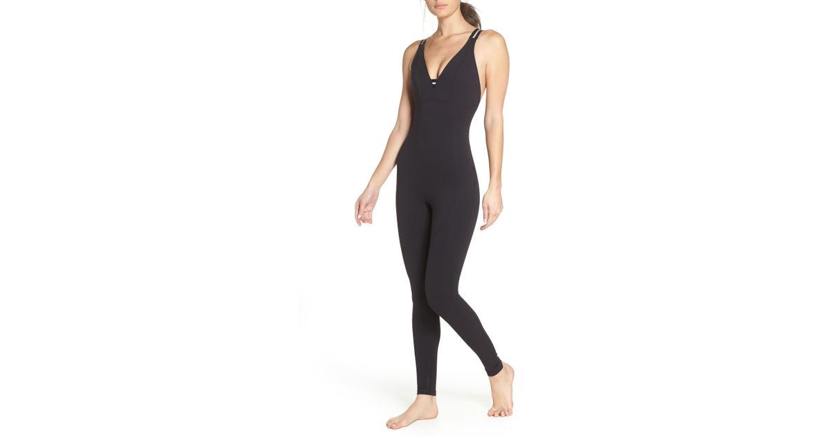 5858be3c2b1 Lyst - Free People Fp Movement Serene Catsuit in Black