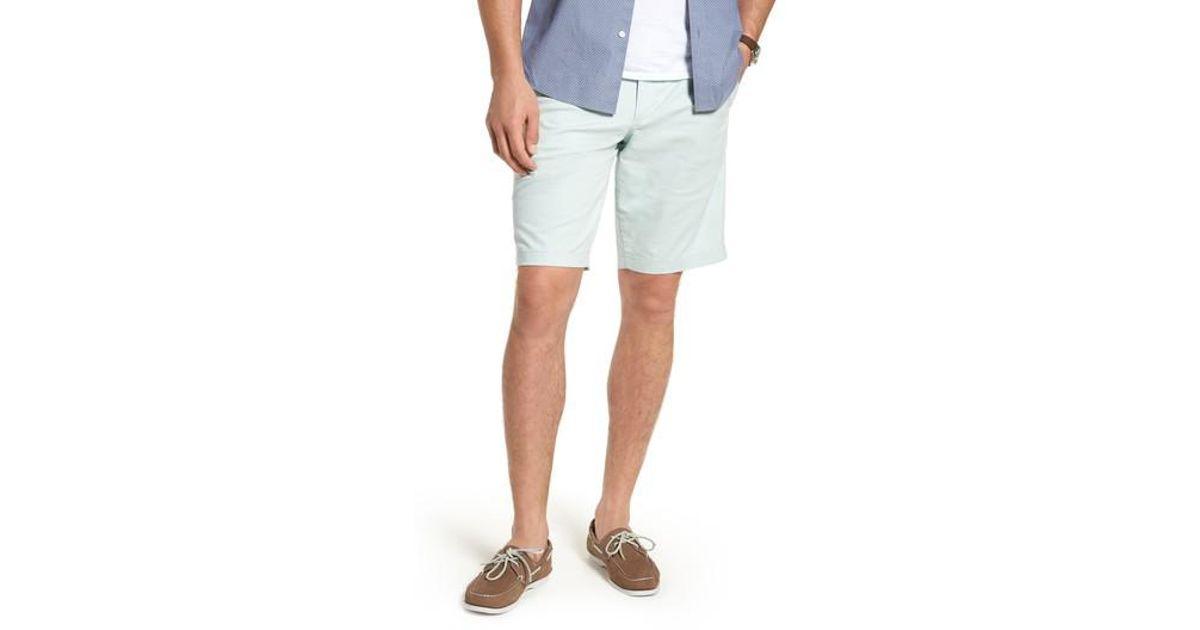 760434e34a Lyst - Nordstrom 1901 Ballard Slim Fit Stretch Chino 11-inch Shorts in Blue  for Men