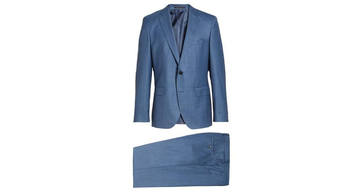 438f66986 BOSS Boss Johnstons/lenon Classic Fit Solid Wool Suit in Blue for Men - Lyst