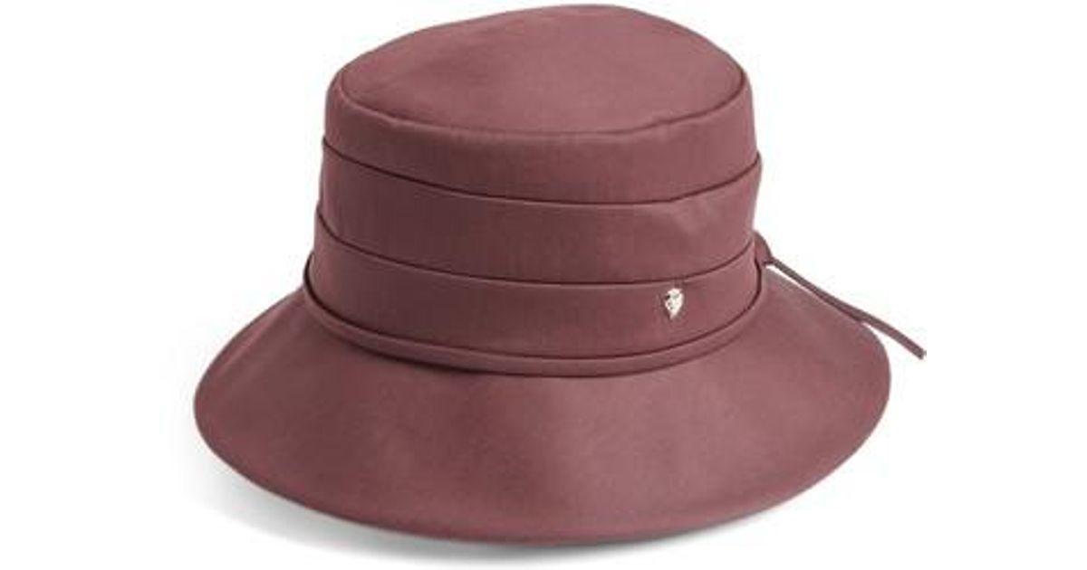 7296fd4f3f2cb Lyst - Helen Kaminski Medium Brim Water-resistant Hat - Purple in Purple