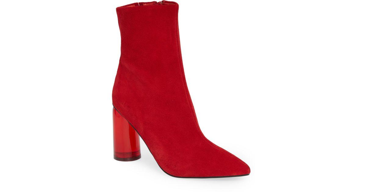 874ba6b7285 Lyst - Jeffrey Campbell Lustful Bootie in Red