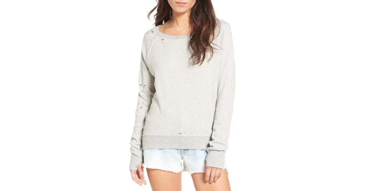 Pam /& Gela Womens Annie Hi Low Sweatshirt-f17