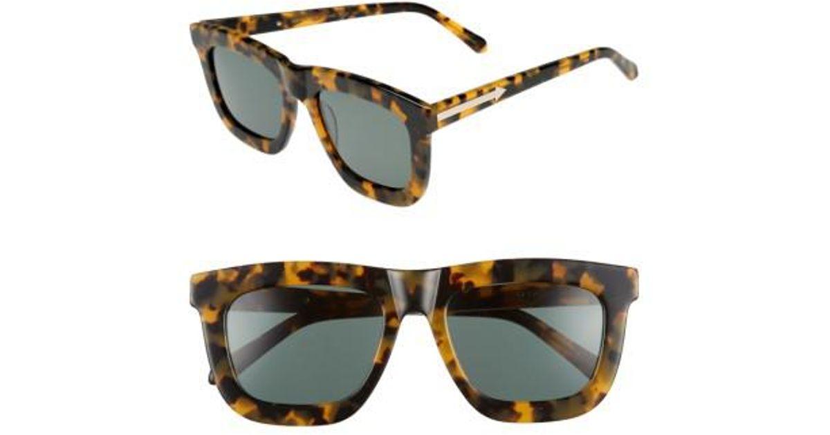 19a1f530a92 Lyst - Karen Walker Deep Worship 55mm Sunglasses - Crazy Tortoise