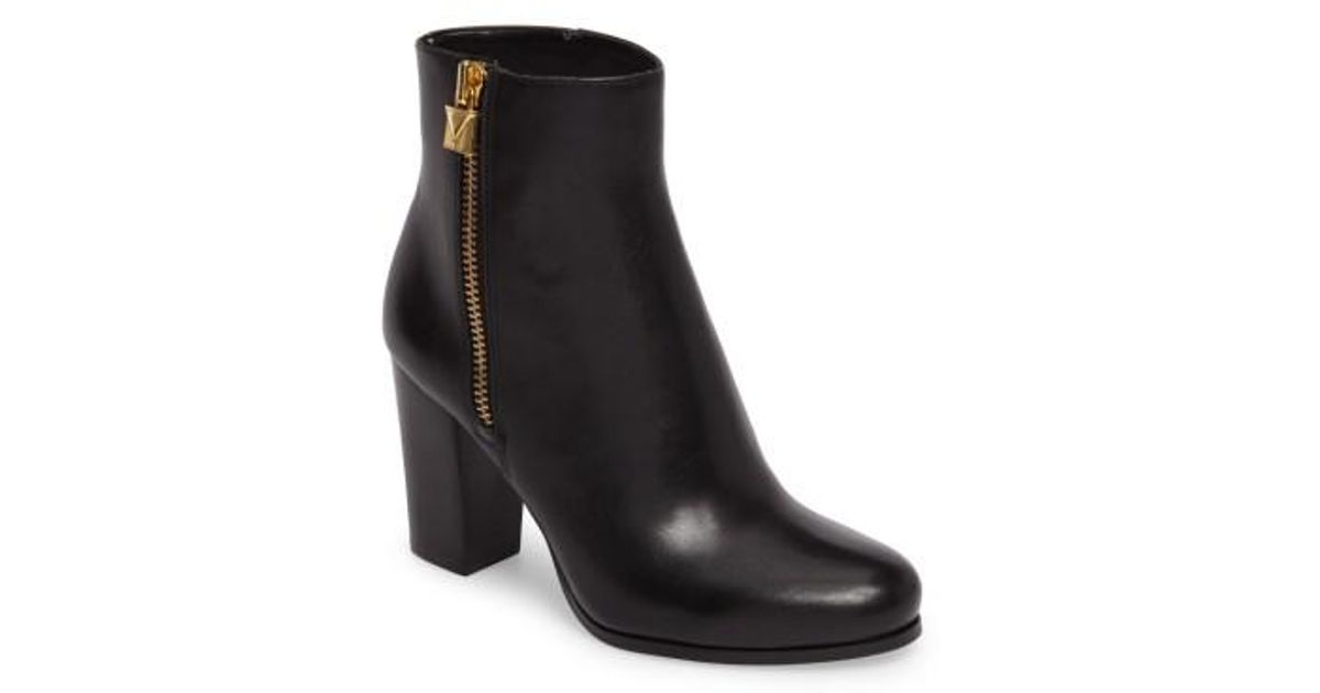 later 2018 sneakers good texture MICHAEL Michael Kors Leather Margaret Bootie in Black - Lyst