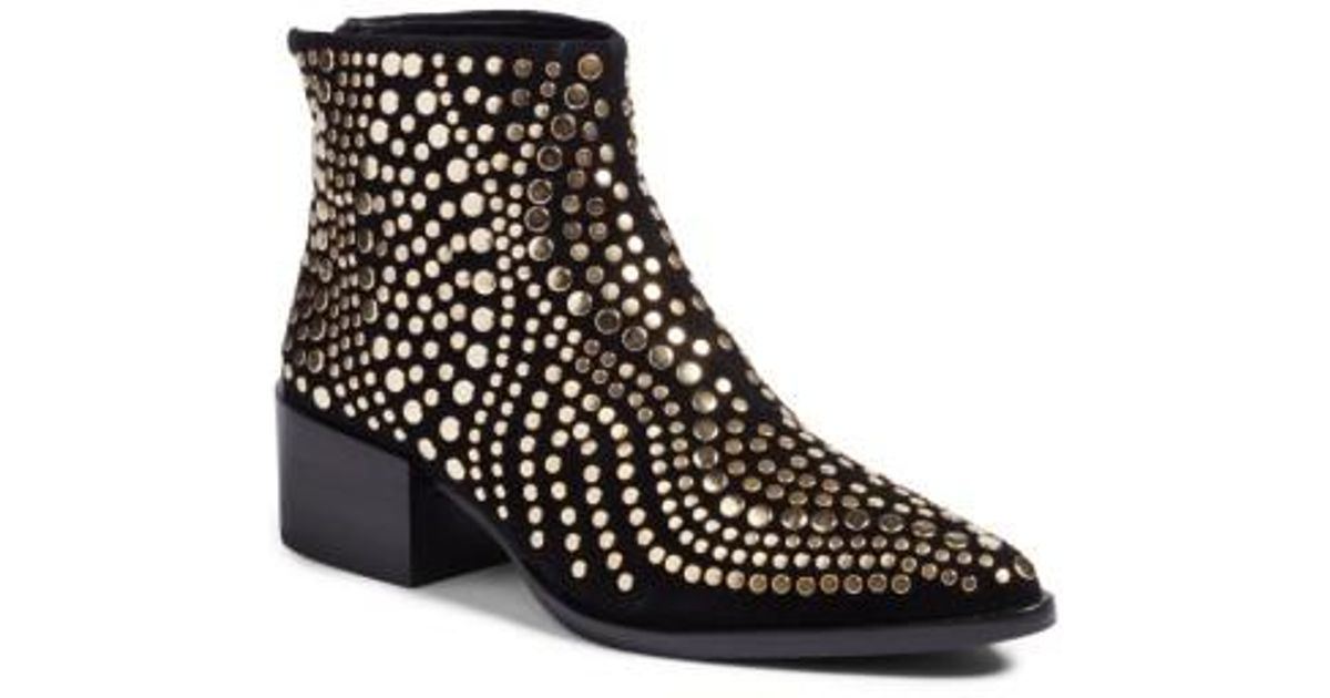 483643d0b24 Vince Camuto Black Edenny Studded Pointy Toe Bootie