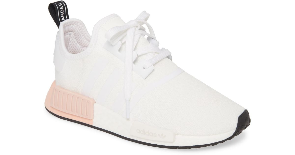 adidas Nmd R1 Athletic Shoe in White - Lyst