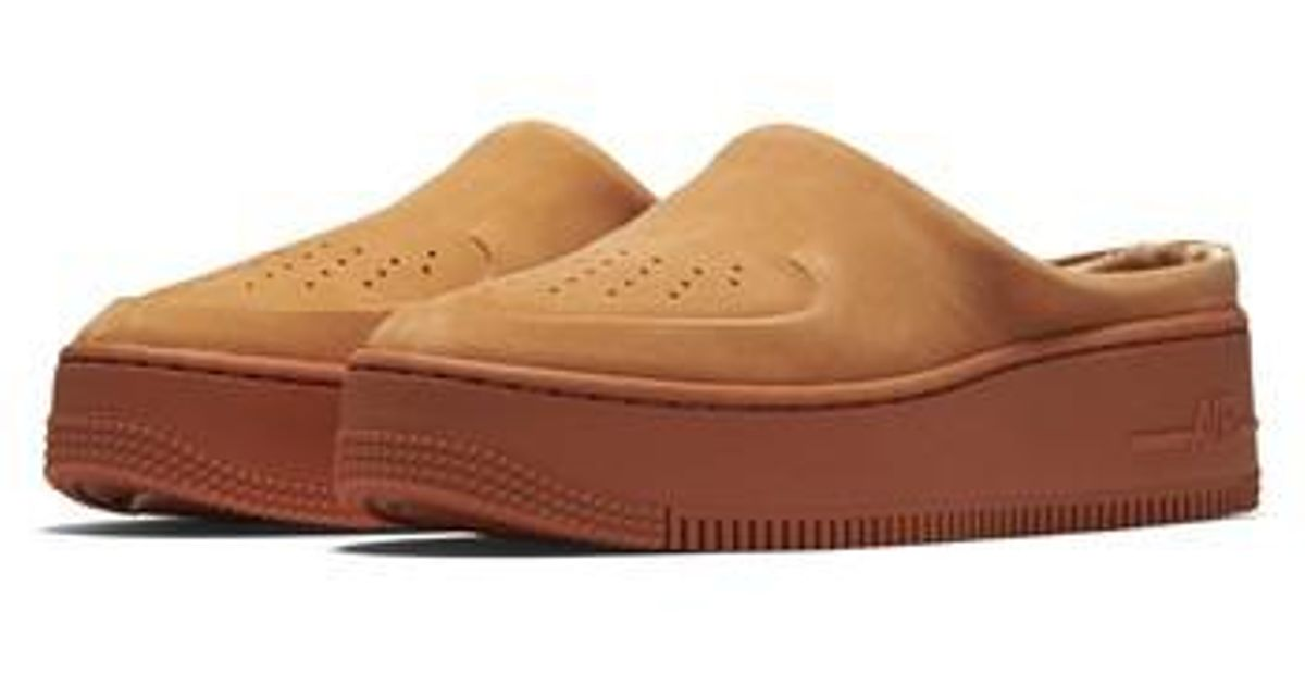 sports shoes a8efd d299b Nike Orange Air Force 1 Lover Xx Slip-on Mule Sneaker