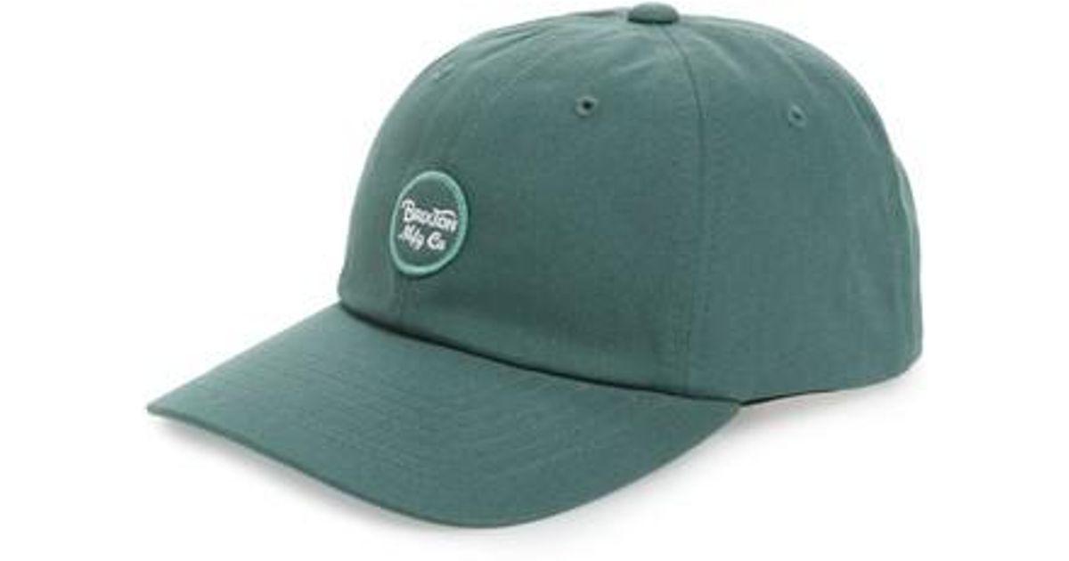 f6e8a811a14 Lyst - Brixton Wheeler Baseball Cap - in Green for Men