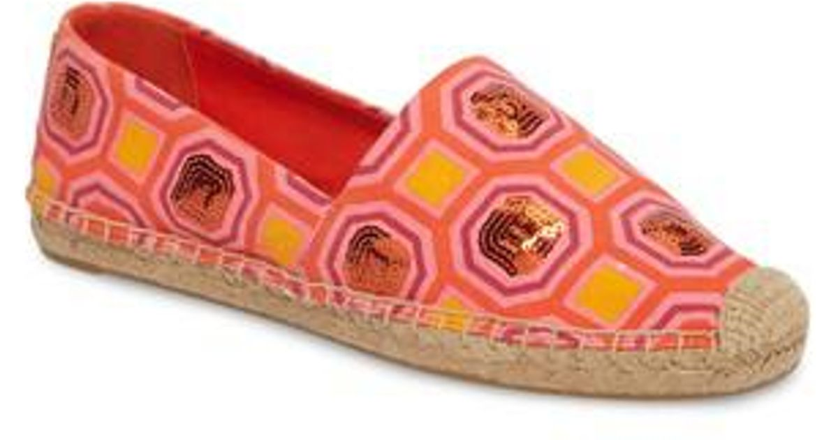 e7c7942f74b Lyst - Tory Burch Cecily Sequin Embellished Espadrille