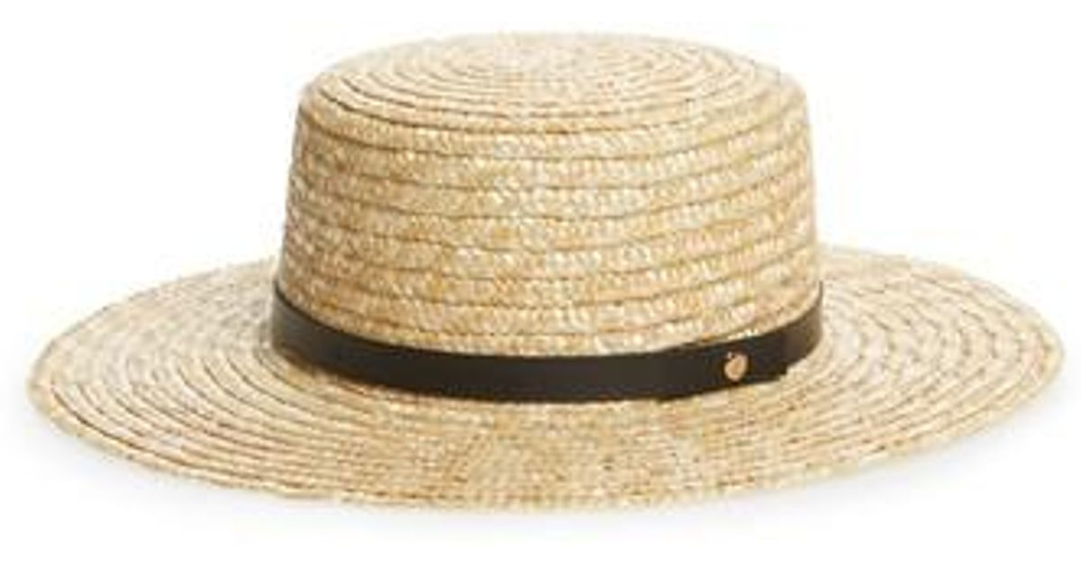 354b272a77a1 Lyst - Sole Society Wide Brim Straw Boater Hat in Natural