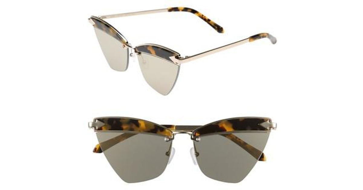 962ae7d0b81f Lyst - Karen Walker Sadie 59mm Sunglasses - Crazy Tortoise