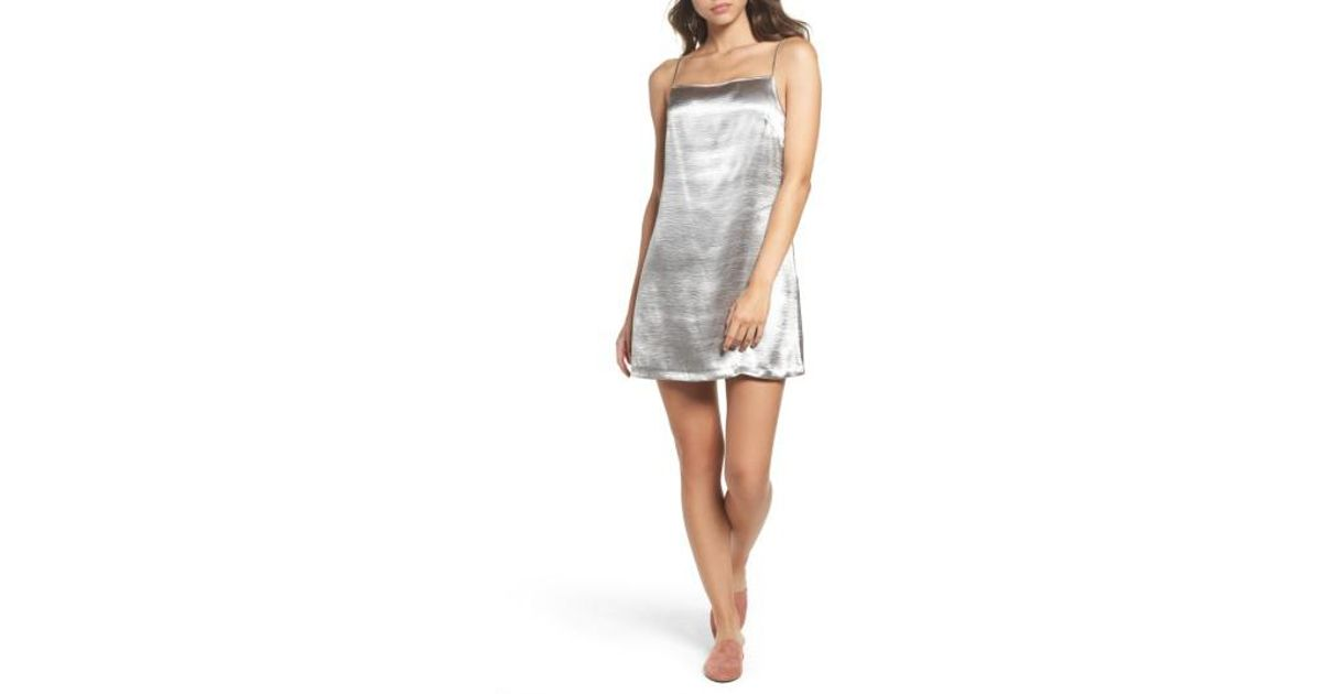 3e3fca815f7d French Connection Kate Shine Slipdress in Metallic - Lyst