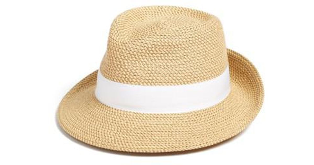 29c814a46f2 Lyst - Eric Javits  classic  Squishee Packable Fedora Sun Hat in Brown