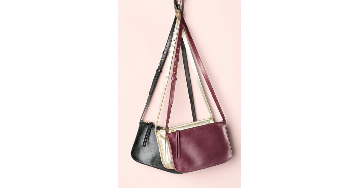 Lyst - Madewell The Simple Leather Crossbody Bag in Brown