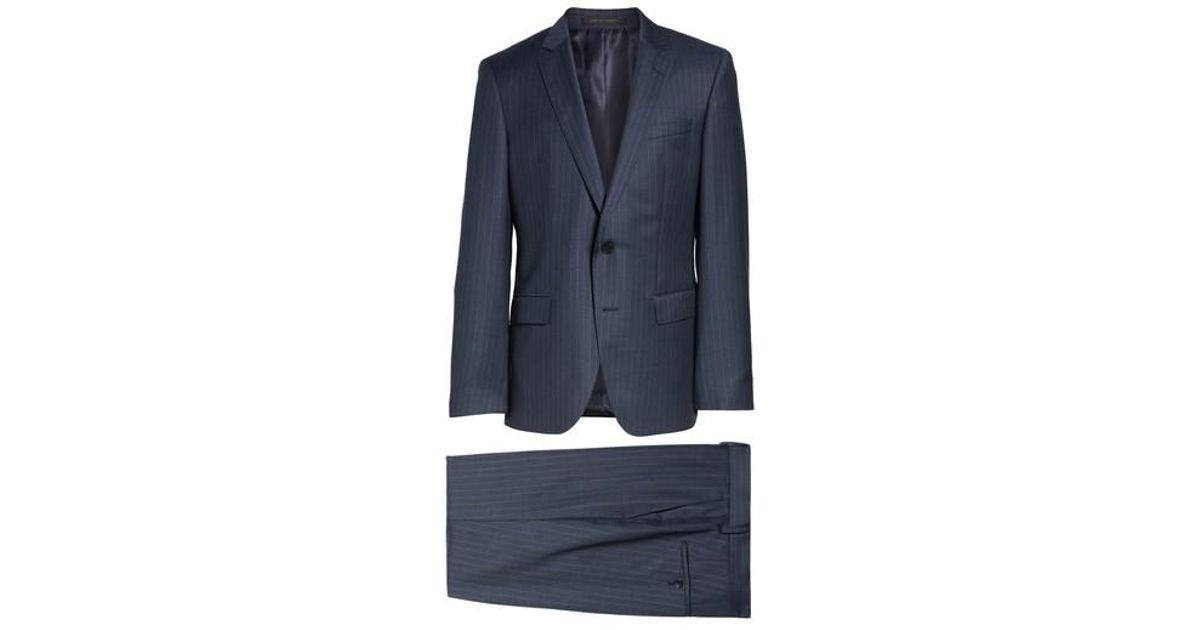 f4ac8d32 Lyst - BOSS Boss Huge/genius Trim Fit Stripe Wool Suit in Blue for Men