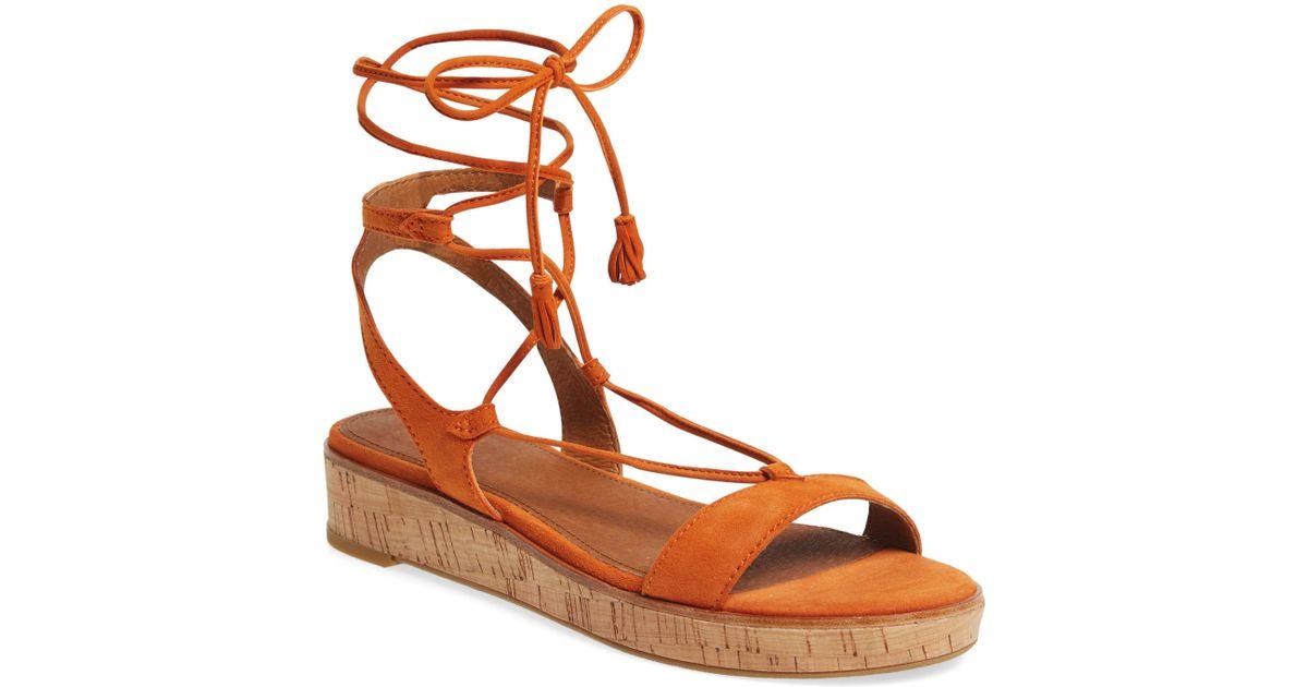 e8bd1c14bc Lyst - Frye Miranda Gladiator Platform Sandal in Orange
