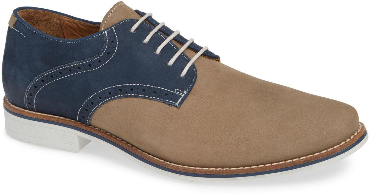dfbdf32e264 Lyst - Nordstrom 1901 Carmel Saddle Shoe in Blue for Men