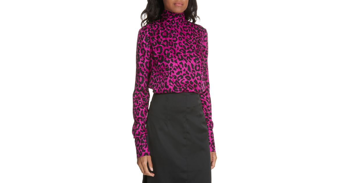 MILLY Womens Leopard Printed on Silk Jacquard Tanya Cami with Side Tie