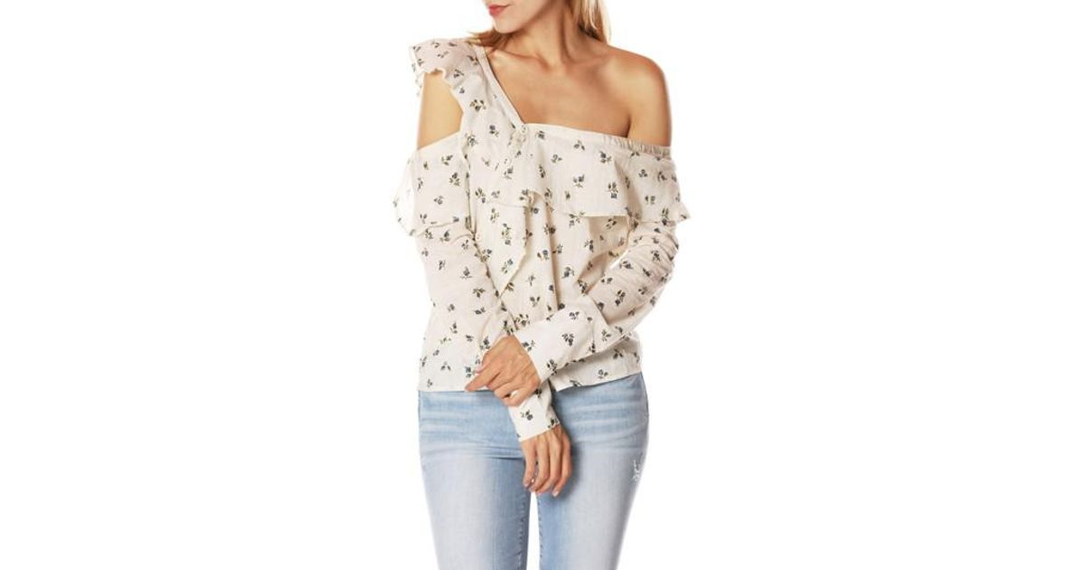 71b5787b6a3d1 Lyst - Paige Marlow Cold Shoulder Top in Natural