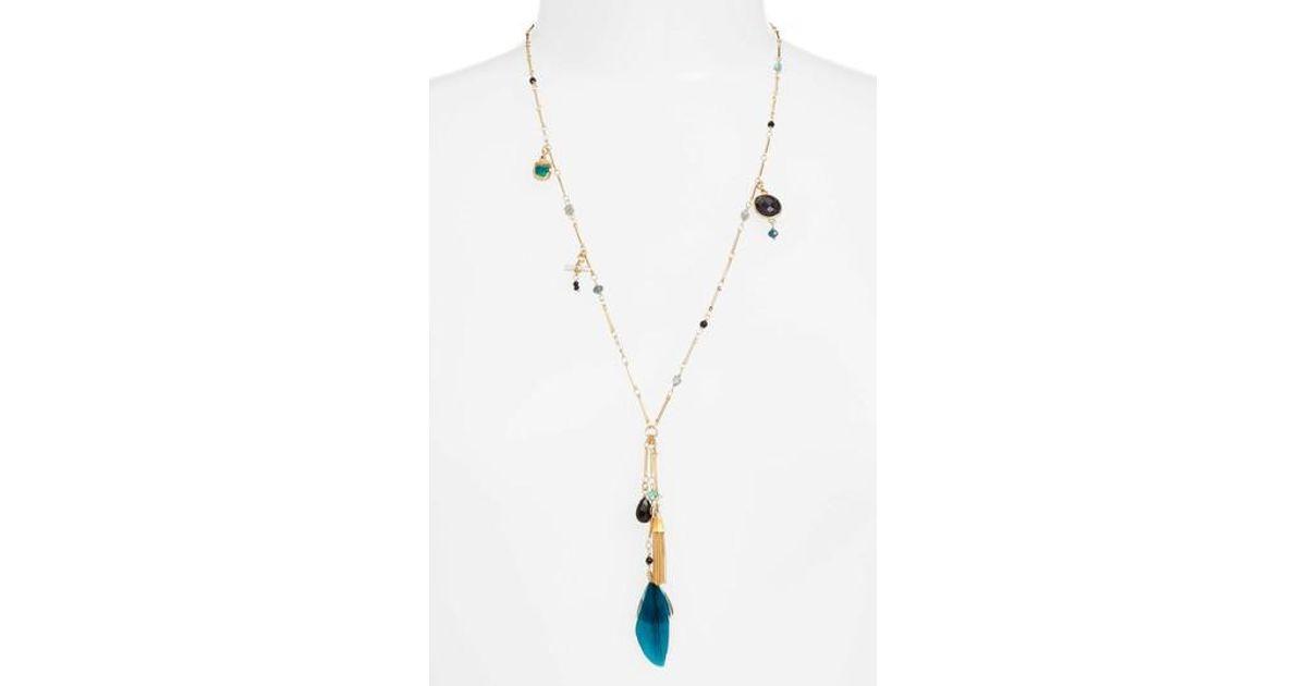 Lyst gas bijoux california pendant necklace in metallic aloadofball Image collections