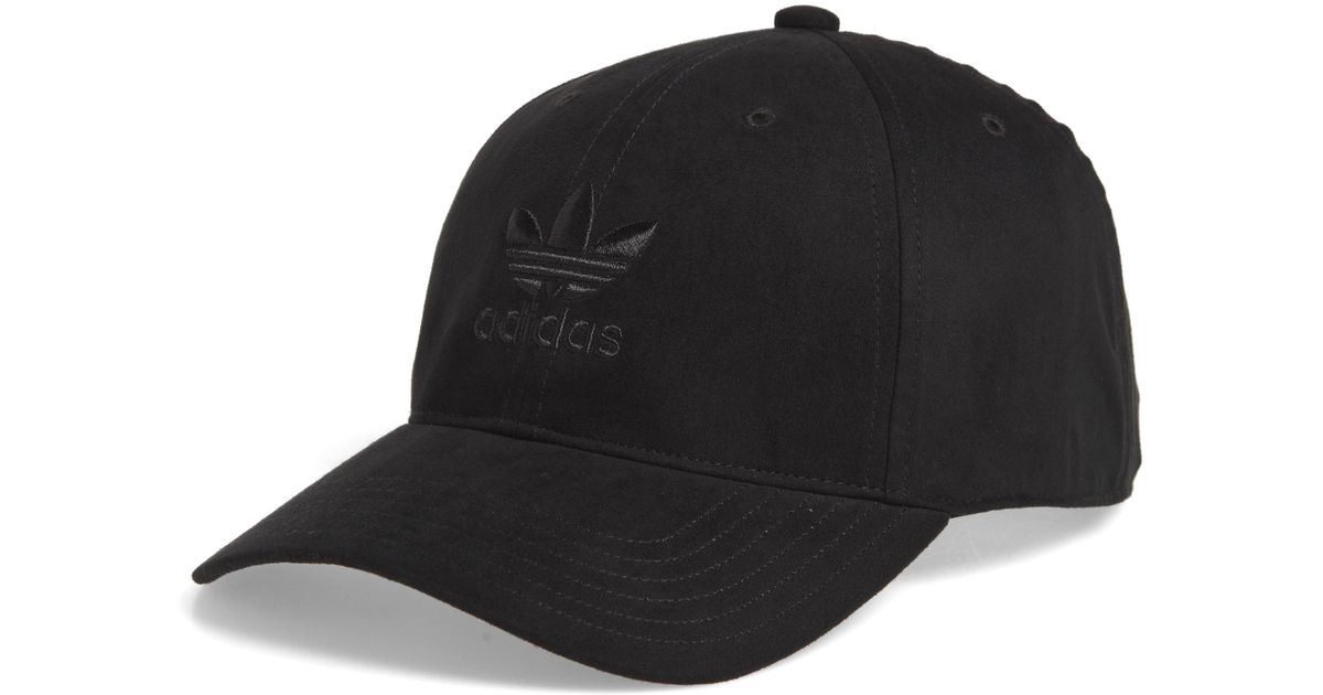 6bc0308a58351 Lyst - adidas Originals Relaxed Plus Ball Cap in Black for Men