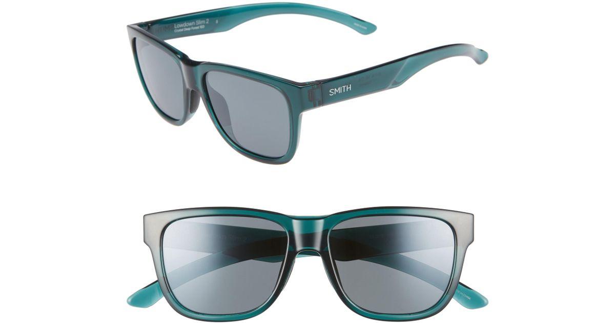3ef4314901 Lyst - Smith Lowdown Slim 2 53mm Chromapop(tm) Polarized Square Sunglasses  - in Blue