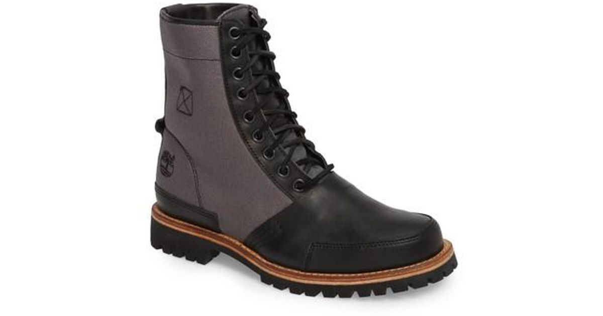 new arrivals attractive style best quality Timberland Black Ltd Lug Mixed Media Water-repellent Boot for men