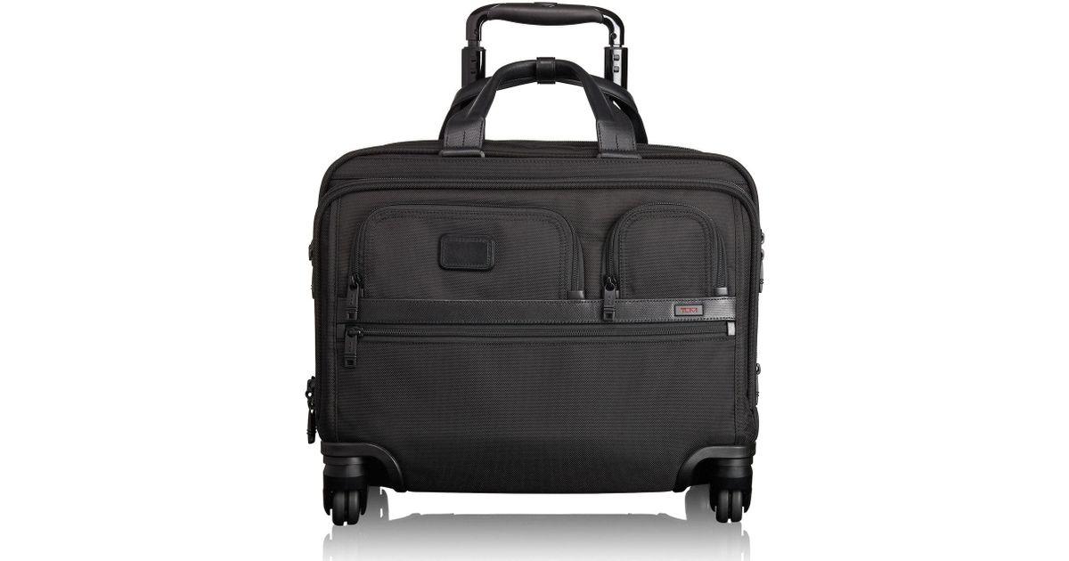 15c4f79fa Tumi 'alpha 2' Deluxe Wheeled Briefcase in Black for Men - Lyst