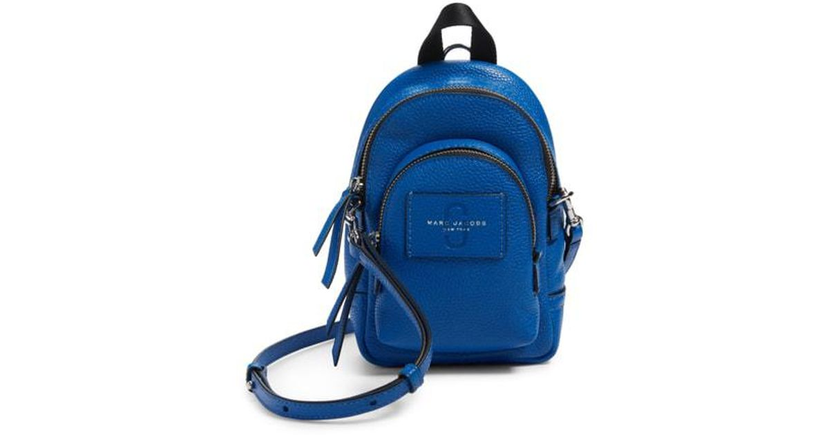 4b5f26cc2b Lyst - Marc Jacobs Mini Double Pack Leather Crossbody Bag in Blue