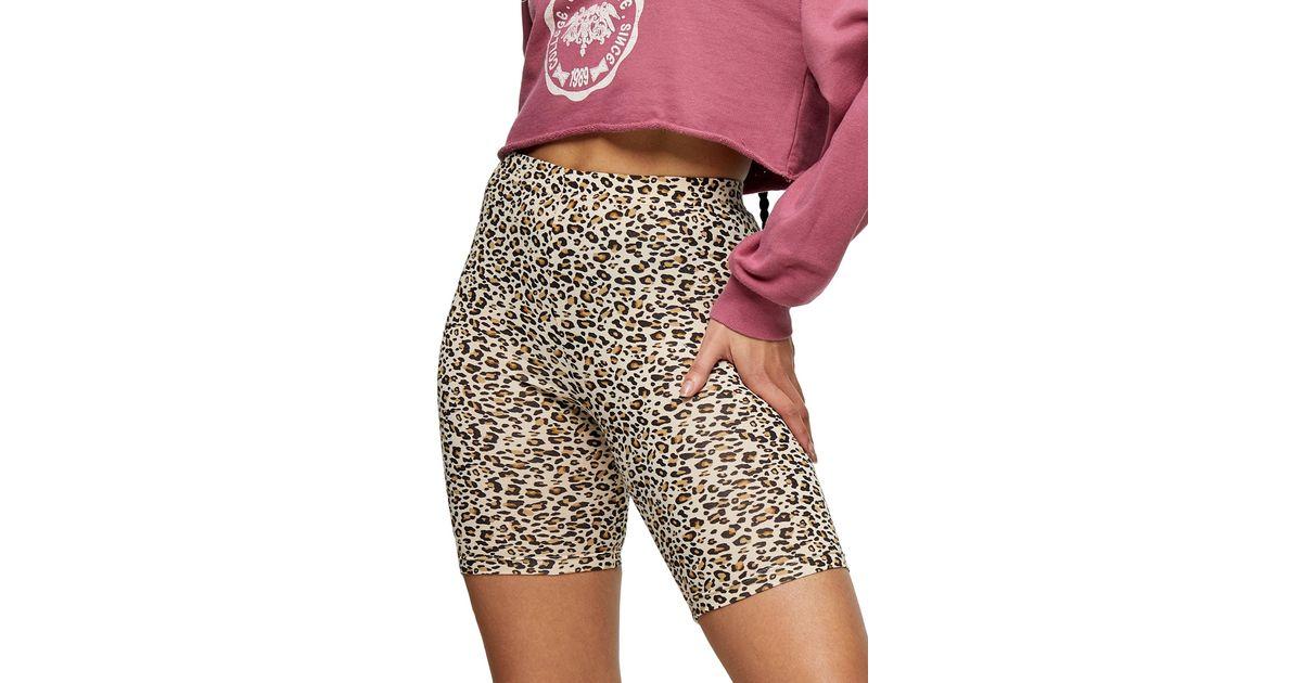 Power Shorts in Pink Leopard Bike Shorts