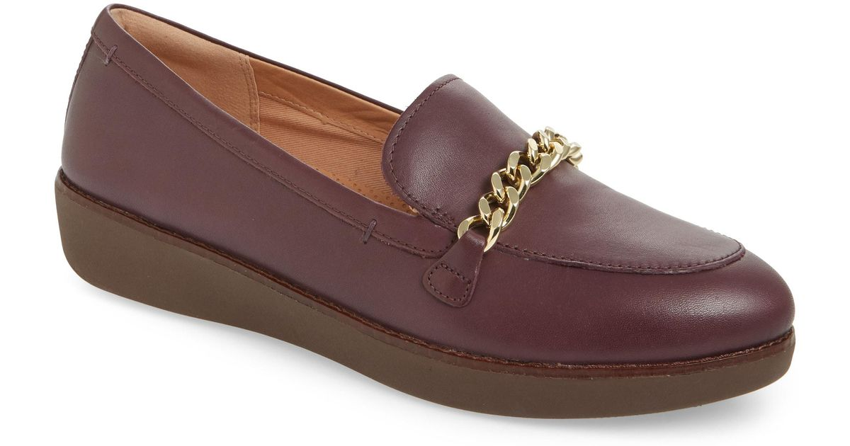 7632c929518e90 Lyst - Fitflop Petrina Chain Loafer in Brown
