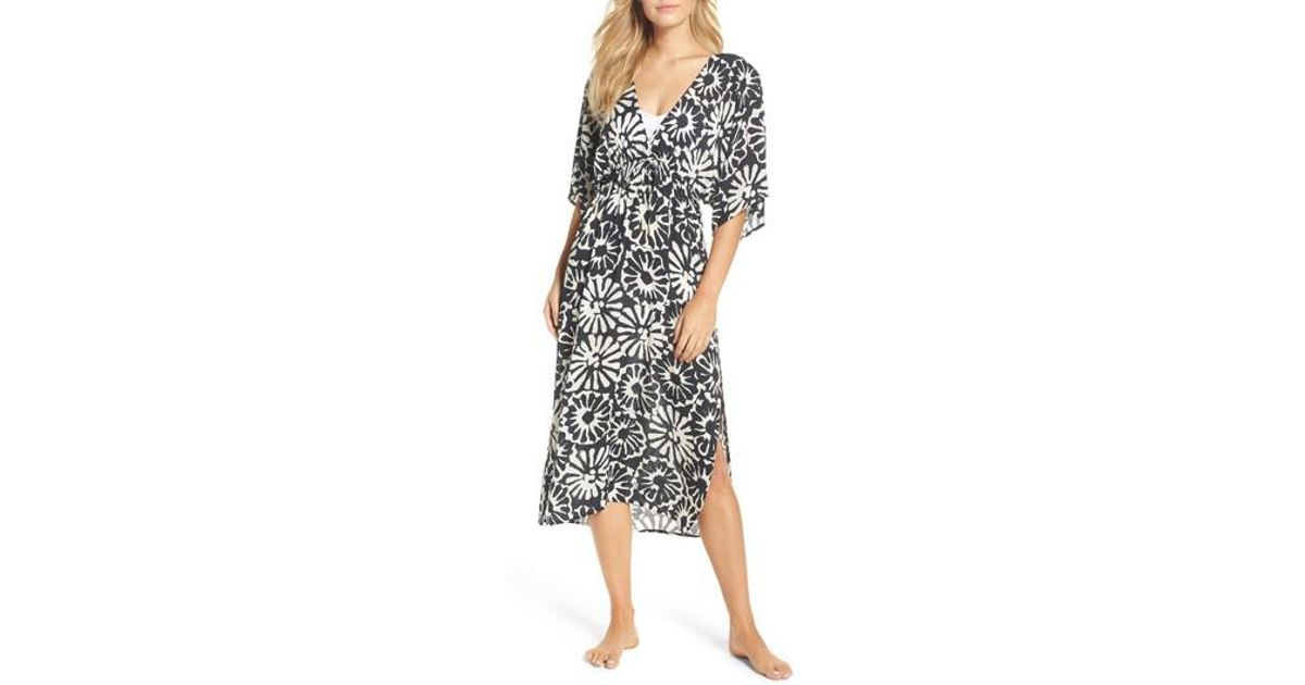 2eb4924d2fef6 Tory Burch Pomelo Floral Cover-up Dress - Lyst