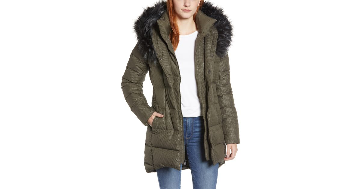 d1dce2839 The North Face Green Hey Mama Water Repellent 550 Fill Power Down Parka  With Faux Fur Trim