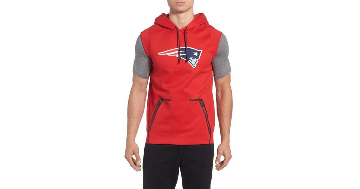 detailed look 44497 e1aa7 Nike Red Therma-fit Nfl Graphic Sleeveless Hoodie for men