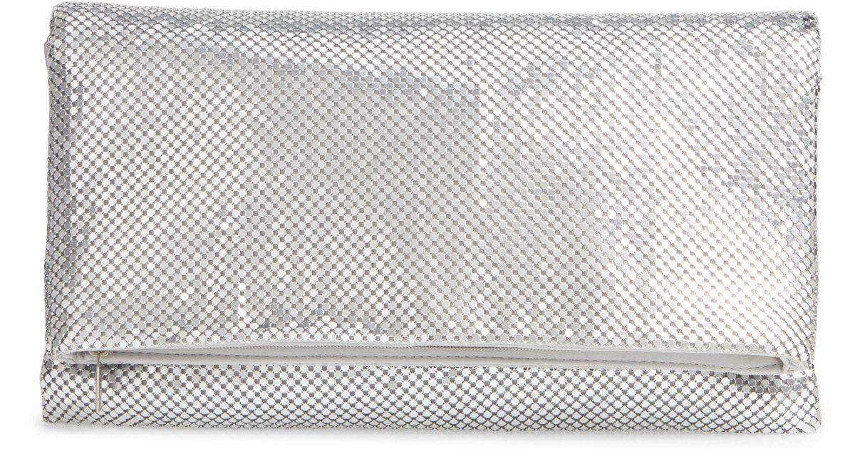 545e5c8f99fd Lyst - Nordstrom Crystal Mesh Crossbody Bag - Metallic in Metallic