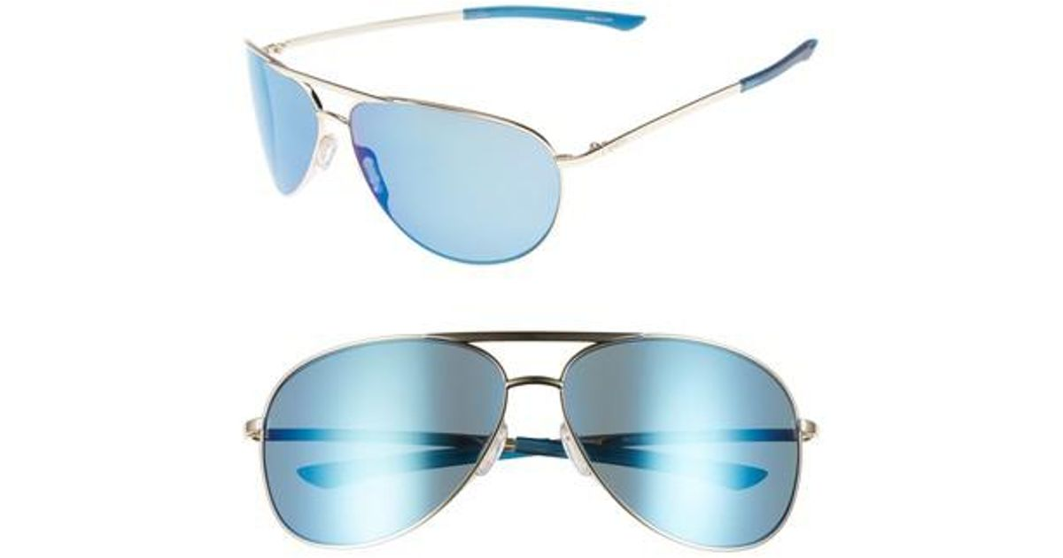 a0de2fe5f63 Lyst - Smith Serpico Slim 2.0 65mm Chromapop(tm) Polarized Aviator  Sunglasses in Blue