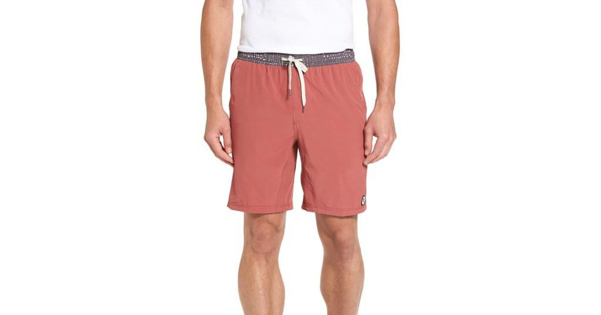 4c958b6fac Vuori Kore Performance Shorts in Red for Men - Lyst