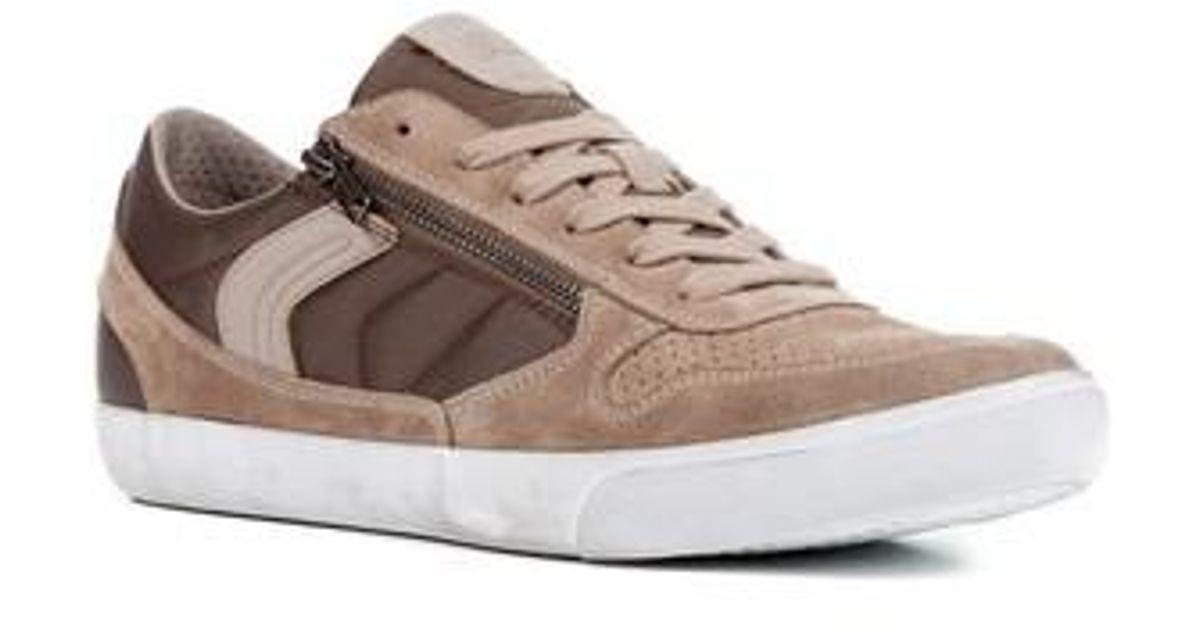 ankommen Promo-Codes Heiß-Verkauf am neuesten Geox Box 33 Low Top Zip Sneaker in Sand/ Brown (Brown) for Men - Lyst